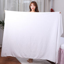 Oversized Super thick150x200cm microfiber bath towel, super soft, super absorbent and quick-drying, White towel
