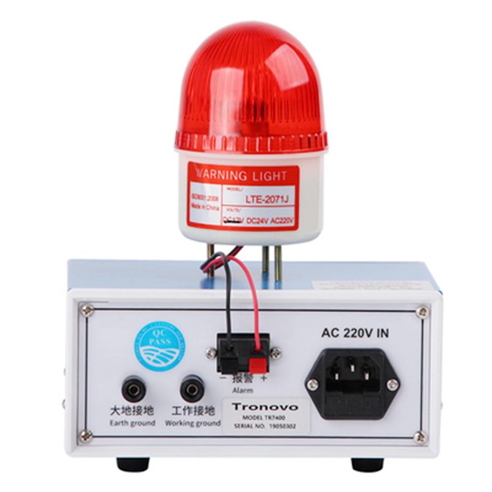 Alarme de surveillance du système de mise à la terre Tronovo TR7400, surveillance en ligne de l'alarme de mise à la terre électrostatique - 3