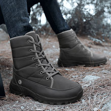 Зимняя мужская повседневная обувь плюшевые теплые мужские модные