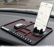 Car Anti-Slip Mat Pad Auto Silicone Phone Holder Stand Non Slip Sticky Anti Slide Dashboard GPS Mount Bracket Parking Card(China)