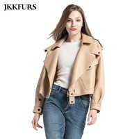 8 farben frauen Aus Echtem Leder Jacke Neue Mode Echt Leder Mantel Dame 2020 Frühling Schaffell Leder S7547