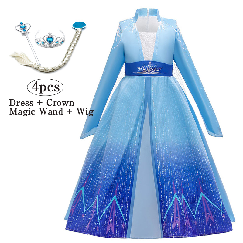 Girls Costume Toddler kids Mermaid Princess Cosplay Party Fancy  Outfits+crown
