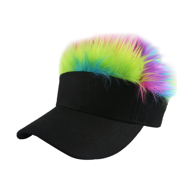 Men Wig Baseball Cap Spiked Hairs Fashion Hat Women Casual Adjustable Outdoor Creative Personality Hip Hop Hat