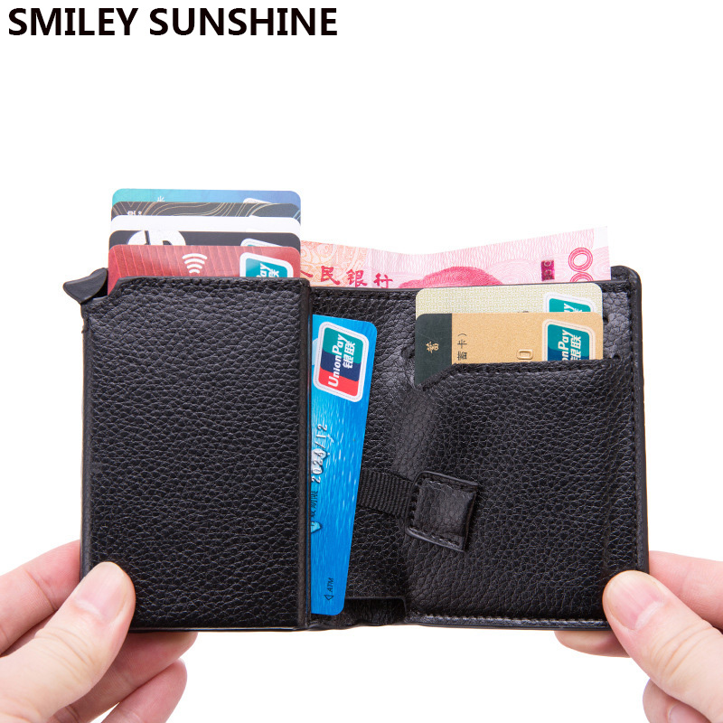 Rfid Blocking Card Holder Men Women Protection Credit ID Card Case Bank Business Wallet Small Magic Creditcard Cardholder Wallet