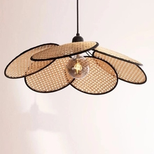 Modern 2021 Rattan Lampshade Pendant Lights Spot Wicker Classic Living Dining Room Bedroom Furniture Home Decor Hanging Fixture