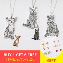 New arrival 925 sterling silver necklace personalized custom your Pet Pattern dog and cat necklace for your Pet free shipping