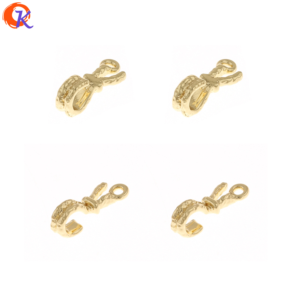 Cordial Design 100Pcs 6*15MM Jewelry Accessories/Classical Connections/Hooks Shape/DIY Charms/Hand Made/Earring Findings