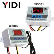 Controlador de temperatura de microordenador W3001 W3002, DC12V 24V AC110 AC200V, termostato Digital, termorelador, Control de enfriamiento de calefacción