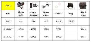 Image 5 - 2 uds CAME TV Boltzen 60w Fresnel sin ventilador LED enfocable Kit de luz natural B60 2KIT luz Led para vídeo