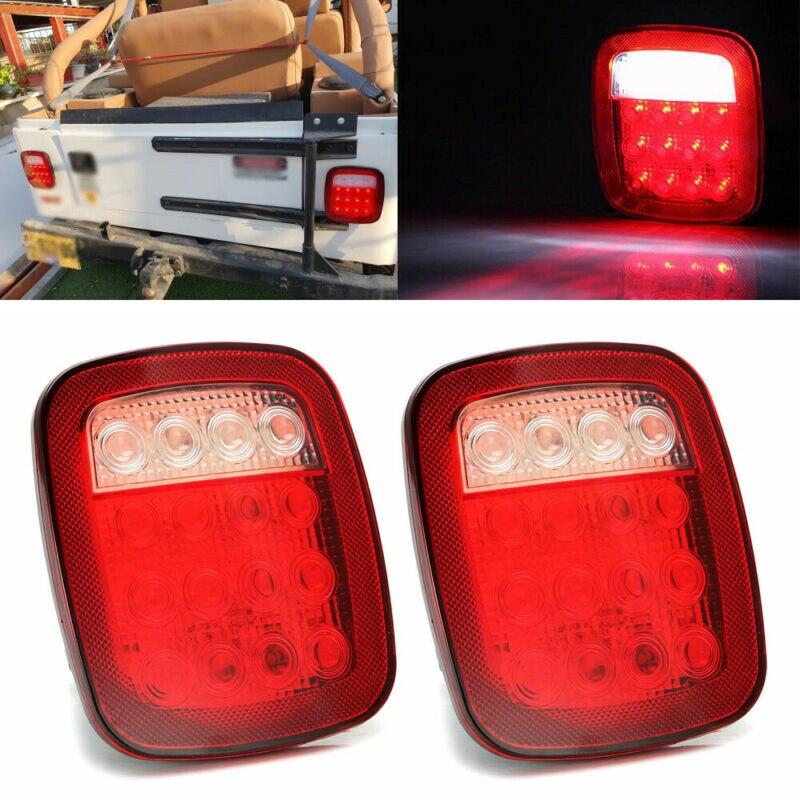 1 par de luces de cruce cuadradas de respaldo 16LED marcador de camión luz trasera 1 par 12V ABS de alta calidad
