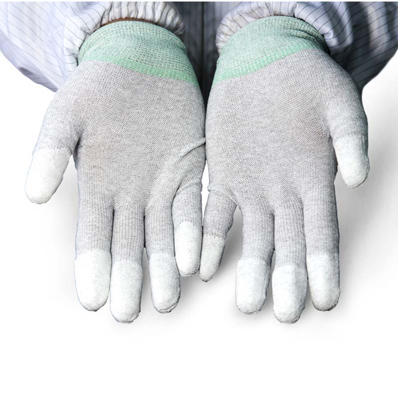 Encrypted Cotton Gauze Gloves Wear Gloves White Line Protective Gloves