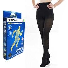Findcool 의료 압축 팬티 스타킹 여성 정맥류 스타킹 무릎 높은 다리 지원 스트레치 압력 circulatio