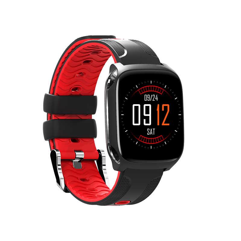 Montre Bluetooth intelligente écran tactile couleur horloge sensorielle dynamique fréquence cardiaque pression artérielle podomètre Sport Smartwatch Qw12