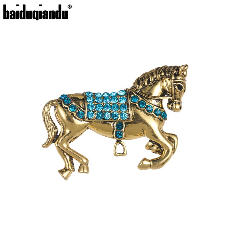 SILVER RIDING HORSE BROOCH PIN QUALITY PAVE SET DIAMANTE CRYSTAL RIDING GIFT