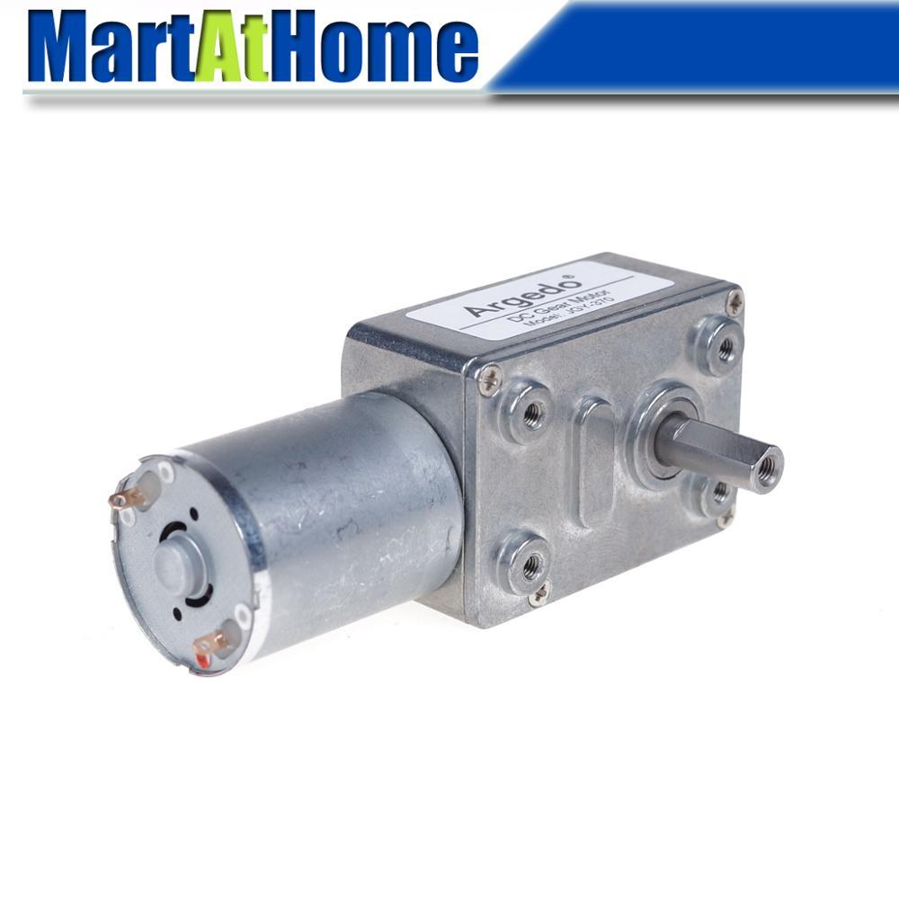 Auto-fechamento alto do torque do eixo 6 self 210 rpm da c.c. do motor 6 v 12 v 24 v da engrenagem do sem-fim da turbina