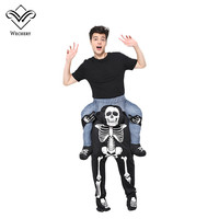 Wechery Skull Carrying People Anime Cosplay Male Skull Cosplay Pants Halloween Costume Funny Party Holiday Clothes For Men