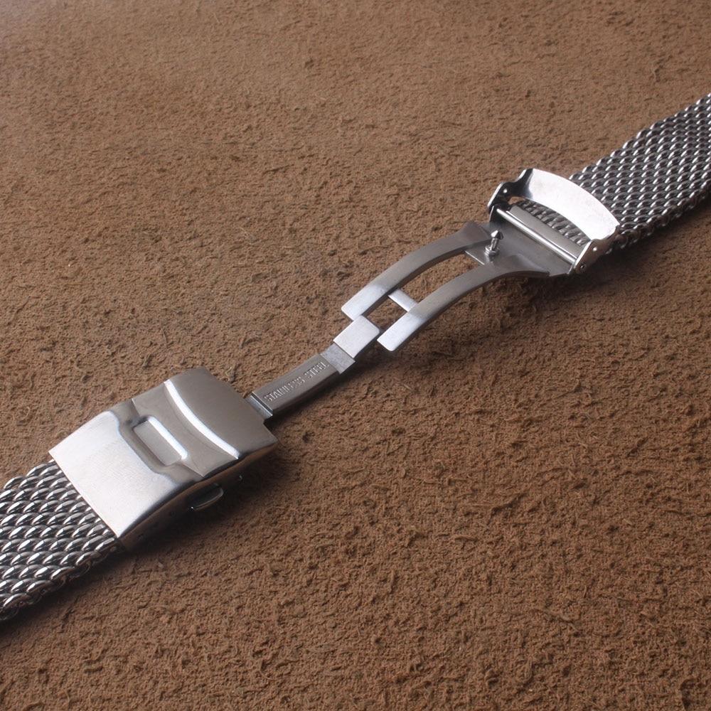 tubarão e aço inoxidável pulseira de relógio