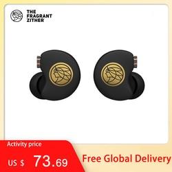 Tfz no.3 unidade de terceira geração in-ear fone de ouvido driver dinâmico esporte transparente fones de ouvido alta fidelidade destacável 0.78mm 2pin fone de ouvido