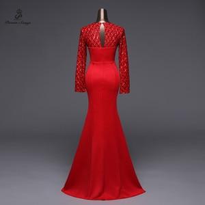 Image 5 - Poems Songs Slit Side Open  Mermaid  Evening Dress prom gowns Formal Party dress vestido de festa Elegant Vintage robe longue