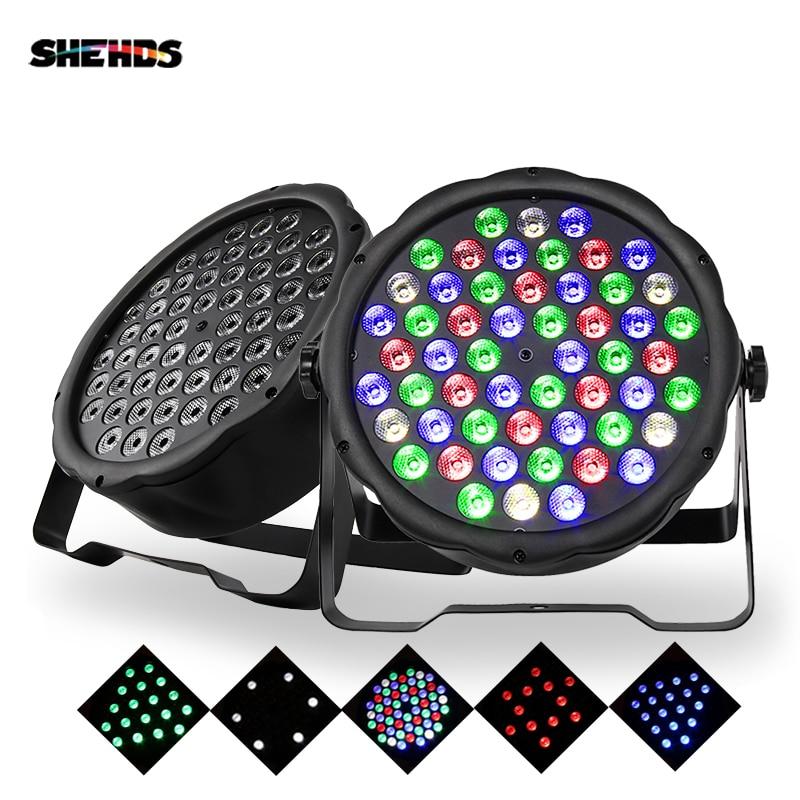 LED Par Light RGBW 54x3W Disco Wash Light Equipment 8 Channels DMX 512 LED Uplights Stage Lighting Effect Light Fast Shipping