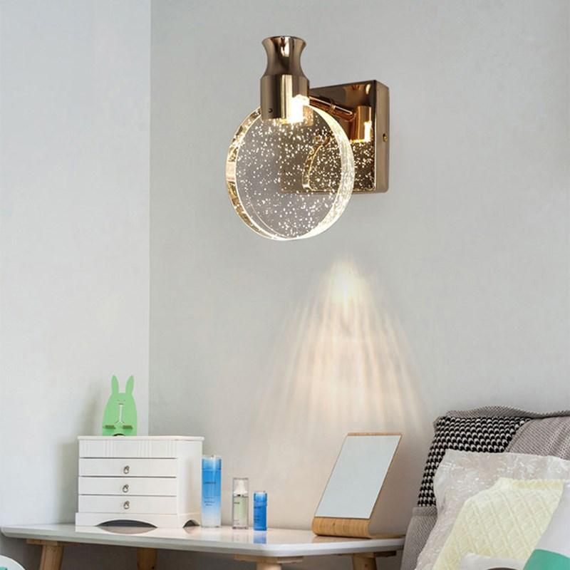 Купить скандинавский настенный светильник роскошная прикроватная хрустальная