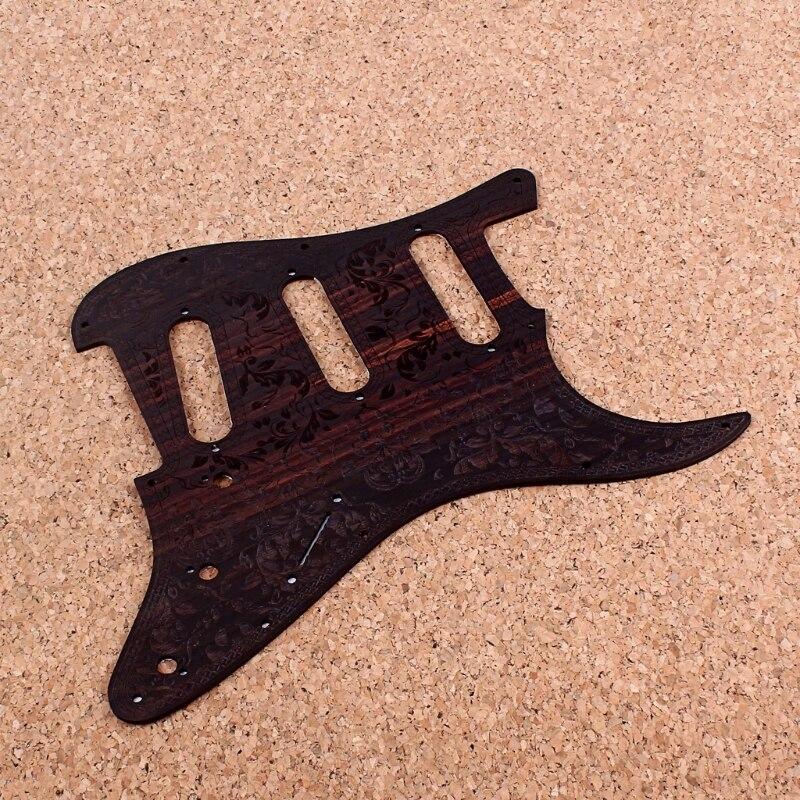 Real rosewood sss strat guitarra pickguard placa de risco barra de ferramentas