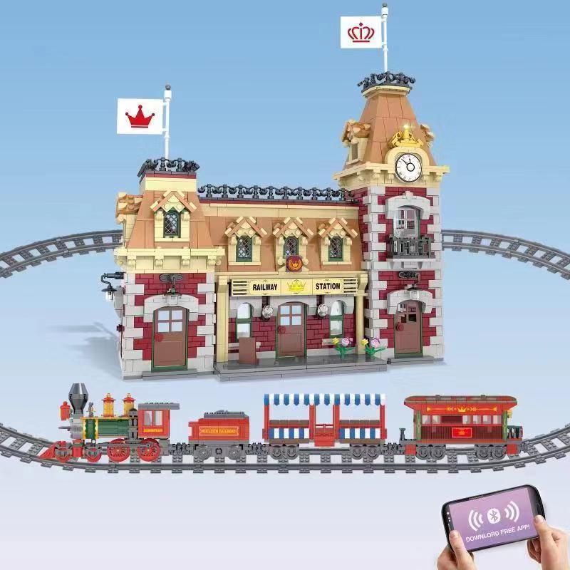 71044 DIsneyed Train  21319 Friends Central 75810 Stranger Things Turning The World Upside Down Building Blocks Bricks Set Toys