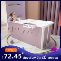 Adult Bathtub Portable with Adult Shower Seat Collapsible Bathtub Baby Swimming Bath Household Large Tub Folding Shower Tray