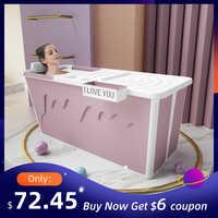 Baignoire adulte Portable avec siège de douche adulte baignoire pliable bébé bain de natation ménage grande baignoire plateau de douche pliant