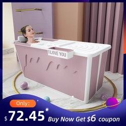 Erwachsene Badewanne Tragbare mit Erwachsene Dusche Sitz Faltbare Badewanne Baby Schwimmen Bad Haushalts Große Badewanne Klapp Dusche Tablett