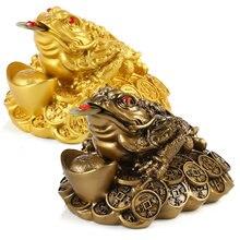 Mini sorte sorte moeda sapo feng shui dinheiro sapo chan chu chinês charme de prosperidade decoração presente para escritório em casa