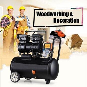 220V Aufblasbare Kleine Kolben Luft Kompressor Öl Freies Luftpumpe mit Geräuscharm Holzbearbeitung Farbe Spray Pneumatische werkzeuge gewidmet
