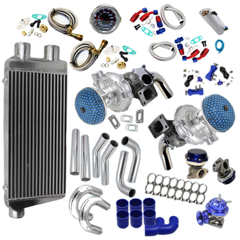 "TWIN TURBO KIT CHROME INTERCOOLER + 3"" PIPING"