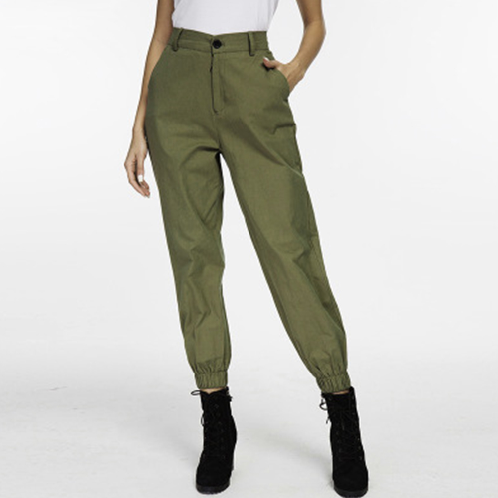 Fashion Women Pants High Waist Pants Woman Cargo Loose Trousers Joggers Pencil Pants Solid Color Female Sweatpants Streetwear