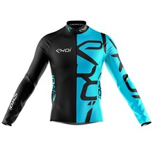 Ekoi 2019 Long Sleeve Cycling Jacket Winter Keep Warm Bike Clothing Men Uniforme Ciclismo Blue MTB Mountain Tops