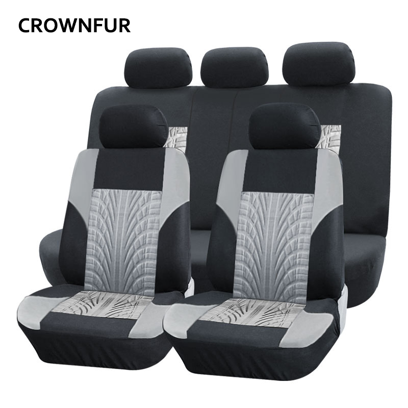 Polyester car seat cover universal Automotive interior Fit for most cars wheel print pattern seat cover For Toyota KIA Mazda BMW seat 7 seater for sale