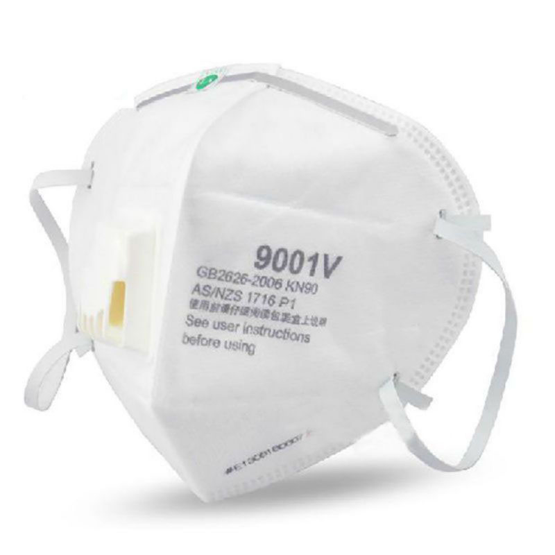 9001V Respirator Dust Mask  Activated Carbon Filter Windproof Mouth-muffle Bacteria Proof Flu Masks Equivalent To N95 3M