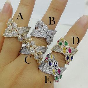 Image 2 - GODKI Luxury Bagutte Cut Bold Rings with Zirconia Stones 2020 Women Engagement Party Jewelry High Quality