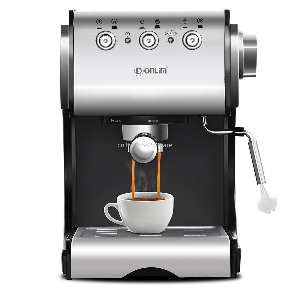 1350W/20Bar/1.5L Italian Coffee Machine Electric Semi-automatic Coffee Maker High Pressure Extraction/Double Temperature Control