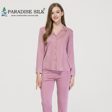Sleepwear Pajamas-Set Bottom-Set Women Silk 2XL Solid Top Knit And Size 3XL