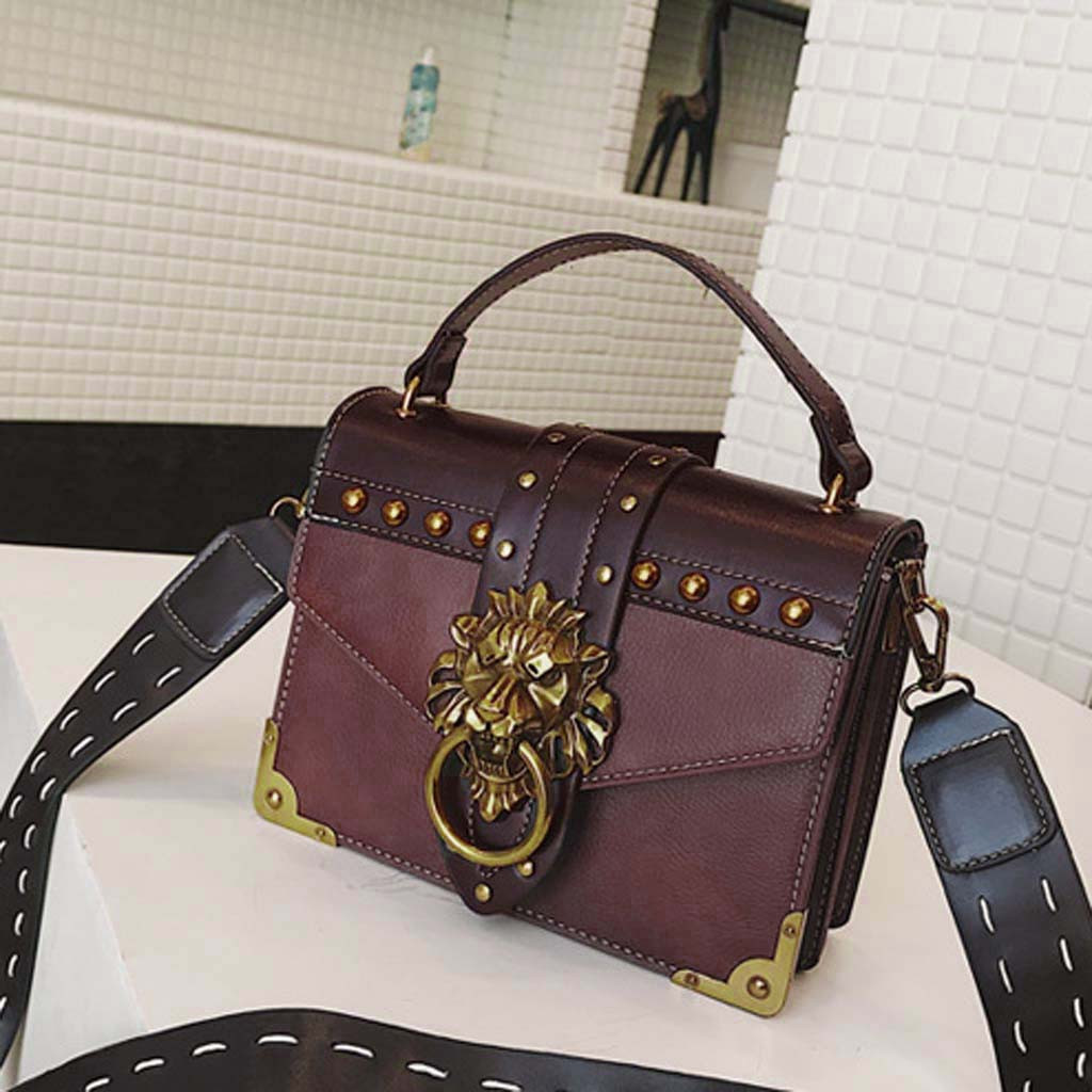Hb4798a9a22c344cea6692d00533055e56 - Handbags Women Bags  Golden Lion Tote Bag With Zipper Fashion Metal Head Shoulder Bag Mini Square Crossbody Bag G3