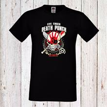 Five Finger Death Punch 2 Men T-Shirt Heavy Metal Trash Long/Short s-5xl- show original title(China)