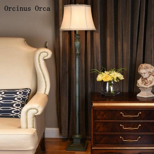 American retro resin floor lamp study bedside lamp European creative LED make old floor lamp free shipping|Floor Lamps| |  -