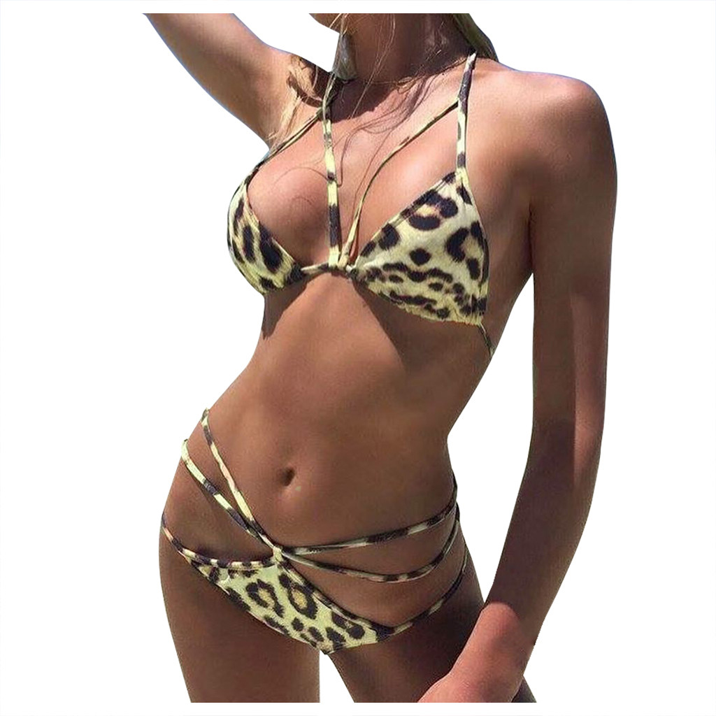Factory direct sales Women's Bikini Print Set Swimsuit Two Piece Filled Bra Swimwear Beachwear Are you sure not to buy it?  2020 1