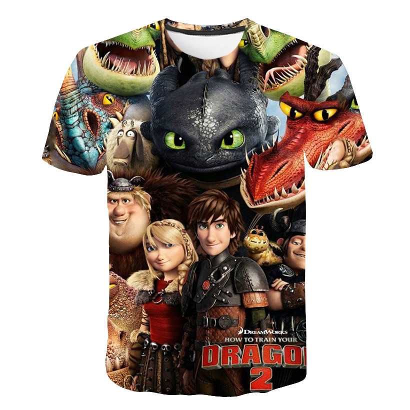 Summer 3D Boys T Shirt How To Train Your Dragon Tshirt Kids Cartoon For Girls Clothes Tops Tees Children Clothes 2020 Streetwear