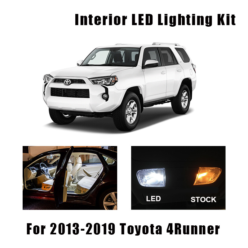 16 Bulbs White LED Interior Light Kit Fit For 2013-2016 2017 2018 2019 <font><b>Toyota</b></font> <font><b>4Runner</b></font> Reading Cargo Door Mirror License Lamp image