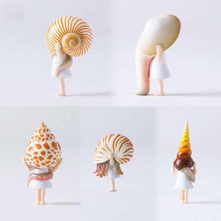 اليابانية الأصلي كبسولة اللعب لطيف kawaii الكرتون المبالغة محارة البحر الحلزون قذيفة فتاة أرقام تحصيل مكتب نموذج