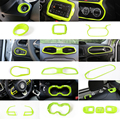 SHINEKA Innenleisten für Jeep Renegade 2016 + Auto Zubehör Innen Aufkleber Aufkleber Licht Grün Set für Jeep Renegade 2018