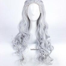 Cosplay Wigs Daenerys Targaryen Silver Synthetic-Hair Wig-Cap Heat-Resistant Grey Long-Wavy