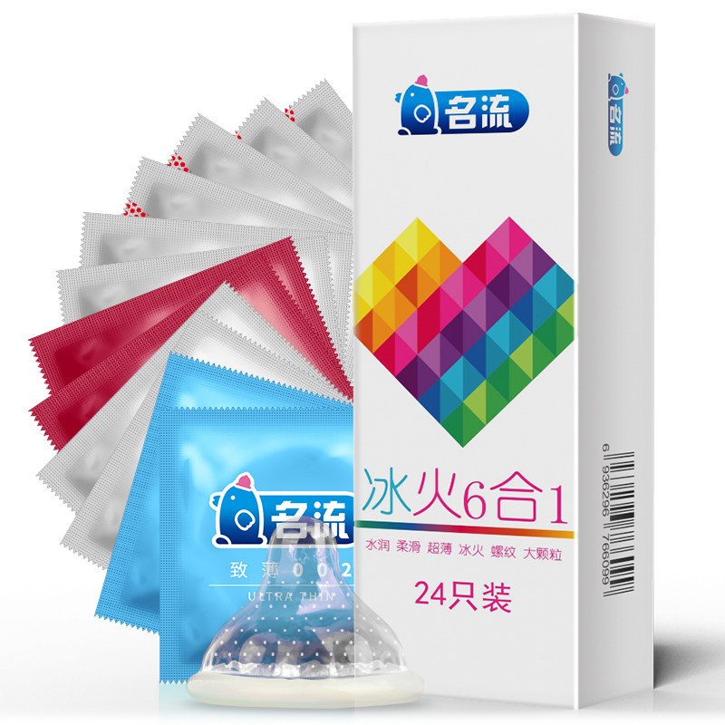 <font><b>Leten</b></font> ice fire 6in1 96pcs Amazing Condoms Value High Quality Condoms For Thin Horny Men Women <font><b>Adult</b></font> <font><b>Sex</b></font> <font><b>Toy</b></font> Safer CONTRACEPTION image